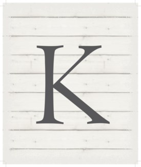 "Letter K - White background 10"" x 12"""