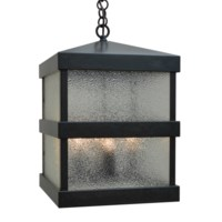 """Arroyo Craftsman 12"""" Barcelona pendant finished in Antique Brass with Aerolite Glass BAH-12AE-AB"""
