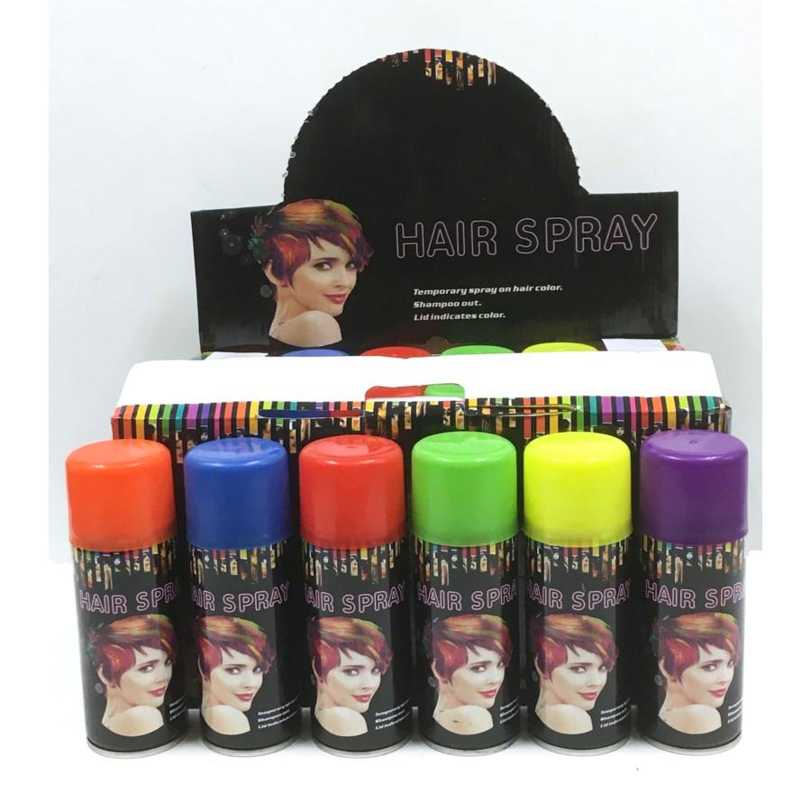 Hair Spray 6 Asst Colors 24 Pc In Display D6036 Pk 48