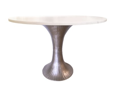 Alice Table Base - Pewter