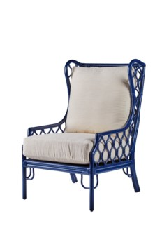 Ambrose Wing Chair- Blueberry