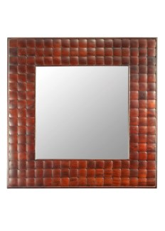 Barclay Square Wall Mirror - Mahogany