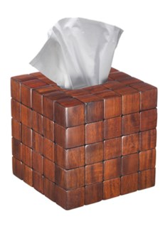 Barclay Tissue Cover - Mahogany