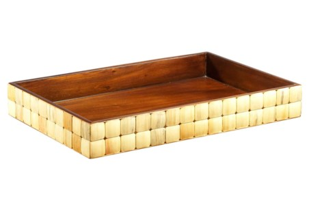 Barclay Rectangular Towel Tray - Pine