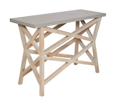 Bridge Console Base - White Wash
