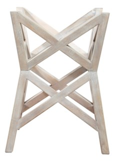 Bridge Dining Table Base - White Wash