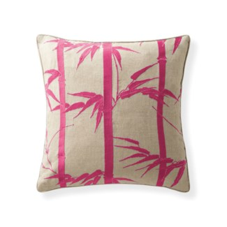 Florence Broadhurst Bamboo Hawaiian Magenta Cushion 18 x 18
