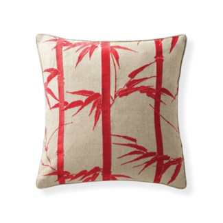 Florence Broadhurst Bamboo Hawaiian Rouge Pillow 18x18