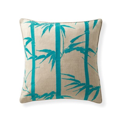 Florence Broadhurst Bamboo Hawaiian Topaz Pillow 18x18