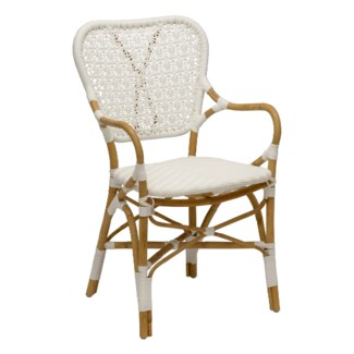 Clemente Arm Chair - Natural/White