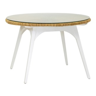 Clemente Round Dining Table - Natural/White