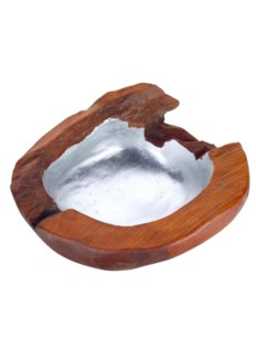 Teak Root Bowl, Medium - Silver