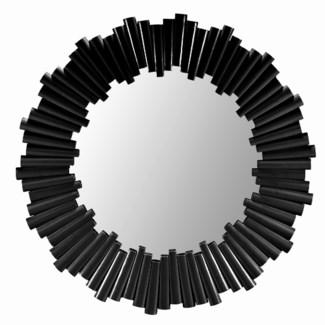 Charles Round Mirror - Black