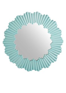 Charles Round Mirror - Light Blue