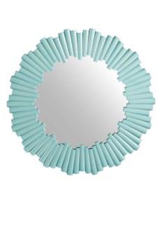 Charles Round Mirror - Light Blue