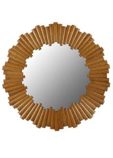 Charles Round Mirror - Nutmeg