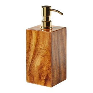 Captain's Lotion/Soap Dispenser - Varnished Teak