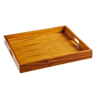 Captain's Serving Tray - Varnished Teak