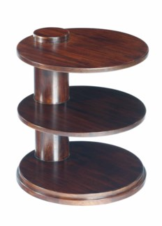 Cuban Round Table 3-Tier Mahogany