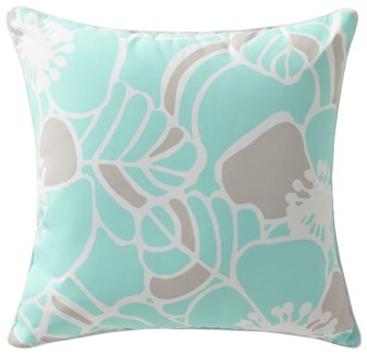 Rapee Cabana Hibiscus Aqua Pillow 20x20 (Outdoor)