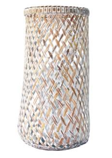 Dahlia Large Lantern - White Wash