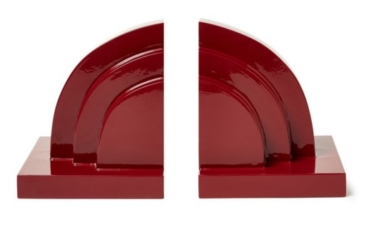 Deco Book Ends - Berry