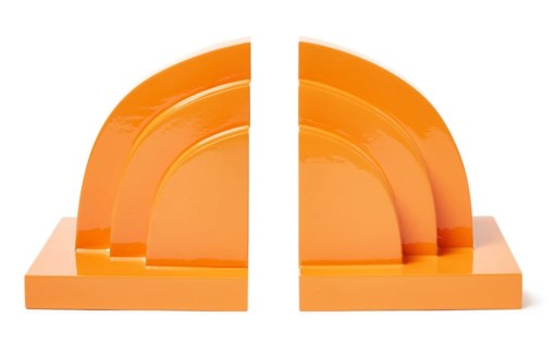 Deco Book Ends - Orange