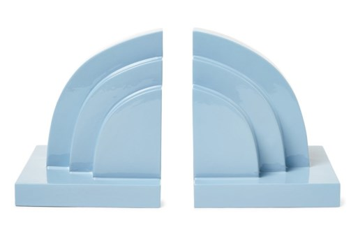 Deco Book Ends - Light Blue
