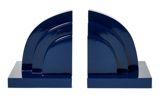 Deco Book Ends - Navy