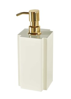Deco Lotion/Soap Dispenser - White
