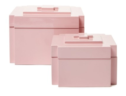 Deco Nesting Boxes (2) - Blush/Pink (495C)