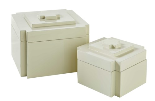 Deco Nesting Boxes (2) - White