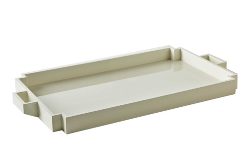Deco Serving Tray - White
