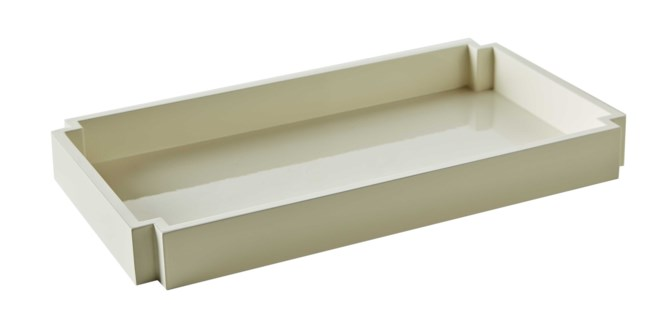 Deco Towel Tray - White