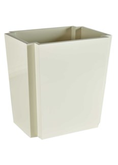 Deco Wastebasket - White