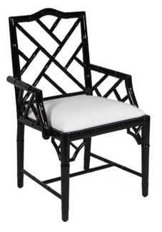Britton Carver Chair - Black Lacquer
