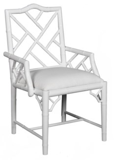 Britton Carver Chair - White Lacquer