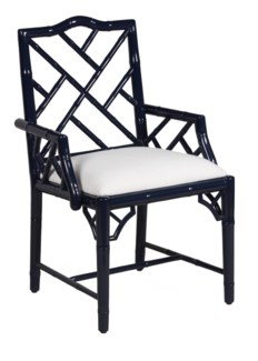 Britton Carver Chair - Navy Lacquer