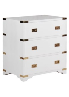 Chiba Bedside Chest - White Lacquer