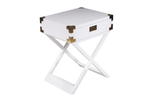 Chiba Side Table - White Lacquer
