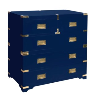 Chiba Campaign Chest - Navy Lacquer