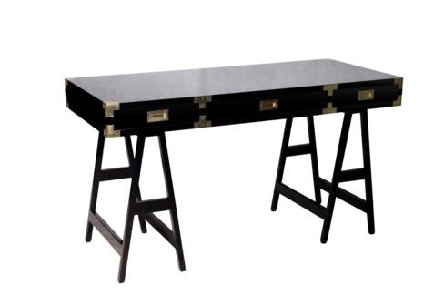 Chiba Study Desk - Black Lacquer