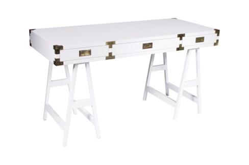 Chiba Study Desk - White Lacquer