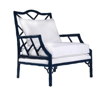Kennedy Lounge Chair - Navy Lacquer