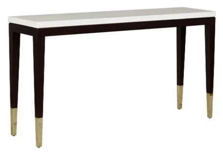 Pierre Console Table - Leather Top