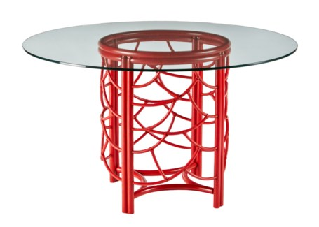DOT Dining Table Base- Antique Red