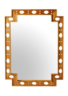 Earl Rectangular Mirror- Natural Teak