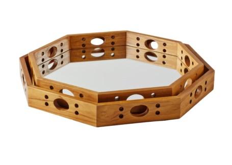 Earl Set of Nesting Trays (2) - Teak