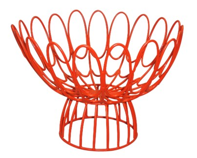 Floral Wire Bowl - Red