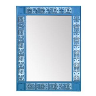 Circle Squares Mirror - Blue